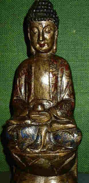 Small Wood Sitting Buddha statue