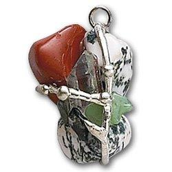 Connecting to Nature Amulet, Hand made gemstone pendant by Seeds of Light