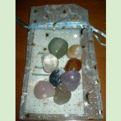 Chakra Gemstone Pouch with 8 gemstones and story card