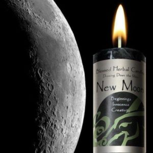 Drawing Down the New Moon Pillar Candle