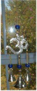 Brass OM Chime with Beads and Bells