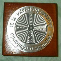 Chartres Labyrinth Wood Paperweight