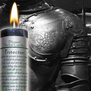 Protection Blessed Herbal Pillar Candle