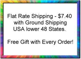 Flat Rate Shipping and Free Gift