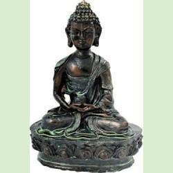 Lotus Meditating Resin Buddha