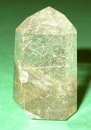 photo of rutilated quartz crystal
