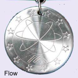 Stainless Steel Scalar Energy Pendant, Model B-Flow