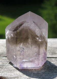 SMAP-11 Smoky Amethyst Crystal Point, 45 gms, 1.5 in x 1 in.