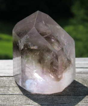 SMAP-5 Smoky Amethyst Crystal Point, 95 gms, 2 in x 1.5 in.