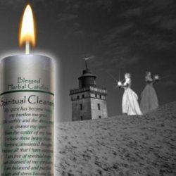 Spiritual Cleansing Blessed Herbal Pillar Candle
