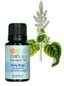 Bottle of Tripura Clary Sage Essential Oil