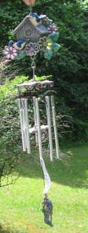 Blue Bird of Happiness Wind Chime