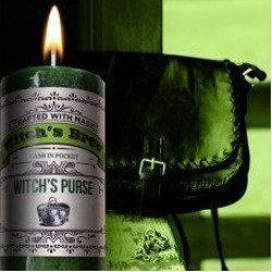 Witch's Purse Witch's Brew Pillar Candle