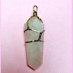 Rose quartz pendant at Mountain Valley Center