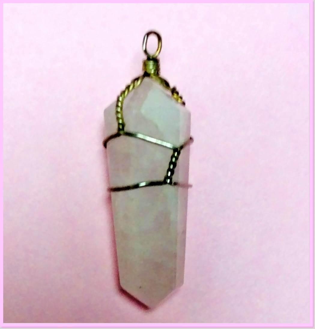 Rose quartz pendant at Mountain Valley Center