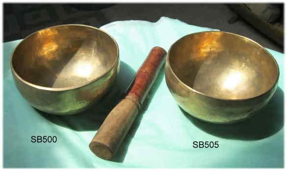 Hand hammered tibetan singing bowls