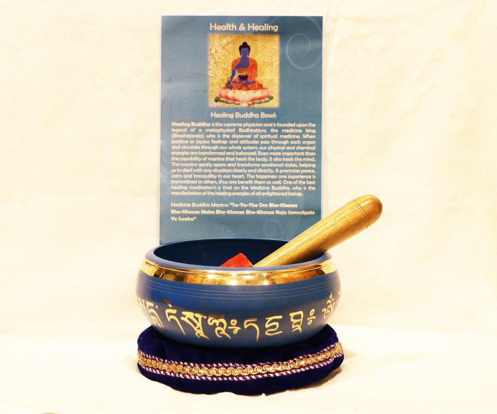 Health and Healing Blue Authentic Tibetan Singing Bowl