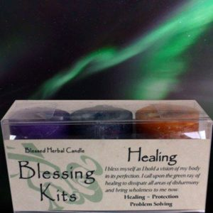 Healing Blessing Kit with 3 votive candles