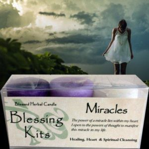 MIracles Votive Candle Blessing Kit
