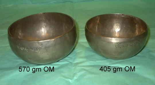 OM tibetan singing bowls