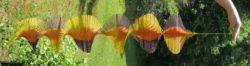 Wind Spinner - brown, orange, yellow