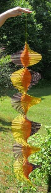 Wind Spinner - brown, orange, yellow