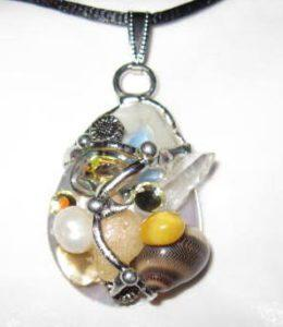 Sunflower Shell Amulet, Handmade by Seeds of Light