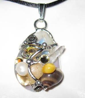 Sunflower Shell Amulet, Handmade by Seeds of Light
