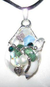 Celtic Heart Shell Amulet handmade by Seeds of Light