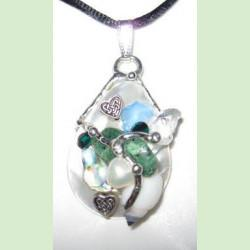 Celtic Heart Shell Amulet handmade by Seeds of Light