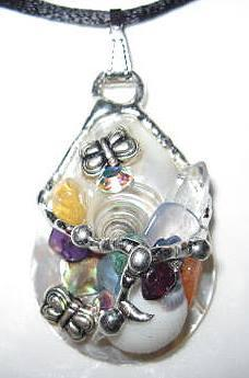 Chakra Butterfly Shell Amulet handmade by Seeds of Light