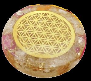 Quartz Crystal Orgonite Disc