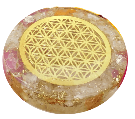 Quartz Crystal Orgonite Disc