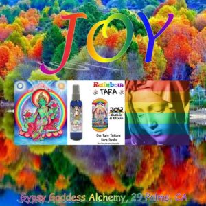 RAinbow Tara Joy Water and Elixir by Gypsy Goddess