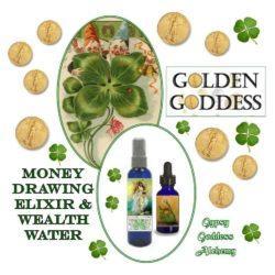 golden Goddess Wealth Water and Elixir