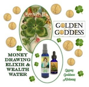 golden Goddess Wealth Water and Elixir