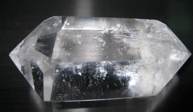 Double Terminated Rainbow Quartz Crystal.