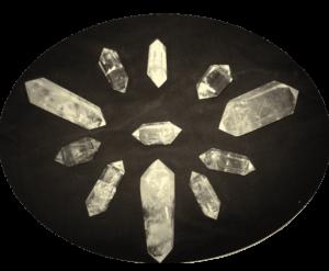 Polished, Double Terminated Rainbow Quartz Crystals
