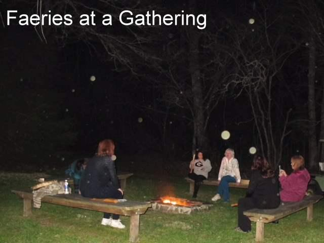 Faerie Orbs at Labyrinth Fire Circle