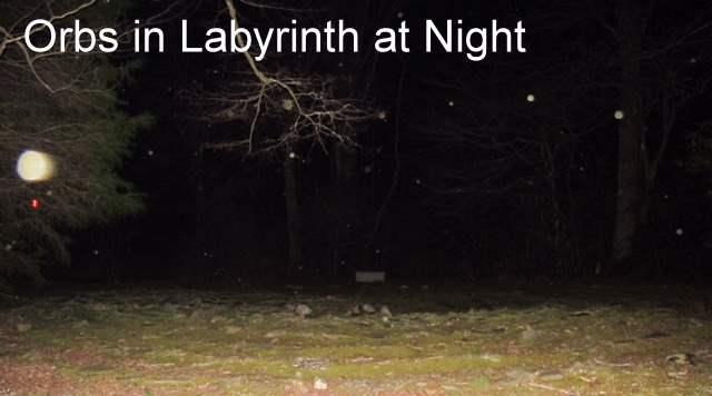 Faerie Orbs at night in the Labyrinth
