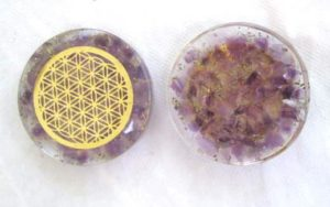 Amethyst Orgonite Pocket Disc