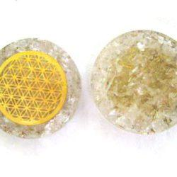 Crystal Quartz Orgonite Pocket Disc