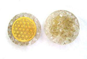 Crystal Quartz Orgonite Pocket Disc