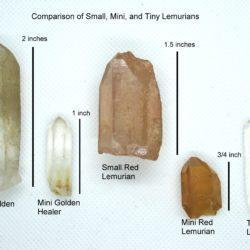 Small and mini Lemurian Seed Crystals