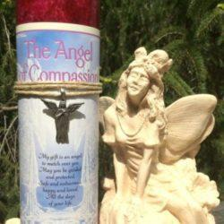 Angel of Compassion candle at MVC