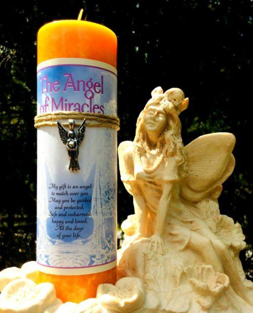 Angel of miracles candle at MVC