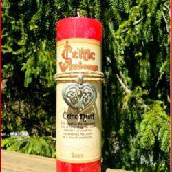 Celtic Heart Candle at MVC