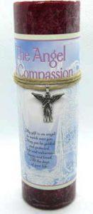 Scented angel of compassin candle with pewter pendant