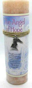 Scented Angel of Hope Candle with pewter pendant
