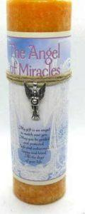 Scented Angel of Miracles candle with pewter pendant